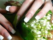 Качественное наращивание, коррекция ногтей (акрил,  гель)